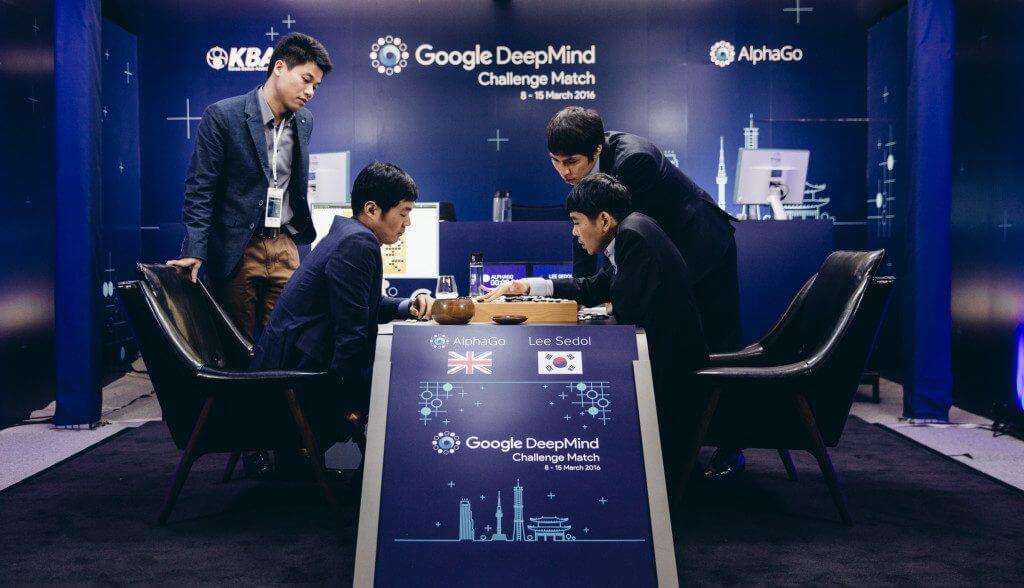 Google 人工智能與圍棋世界冠軍的對決(圖:Geordie Wood)