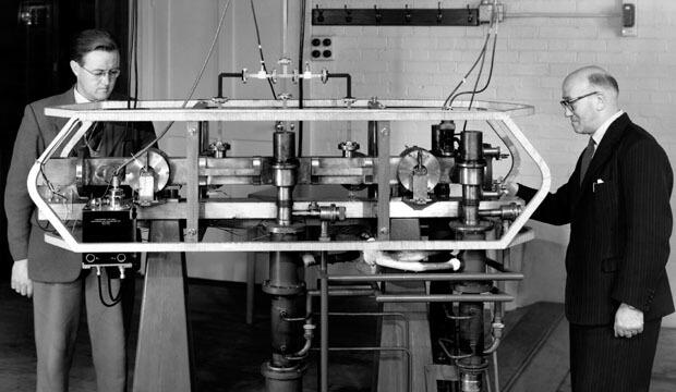 世上首個銫原子鐘 (圖:NPL)