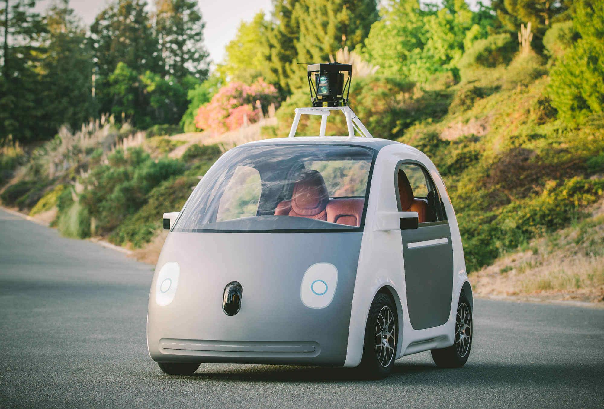 Google 用以採取地圖數據的無人車 (圖:Google)