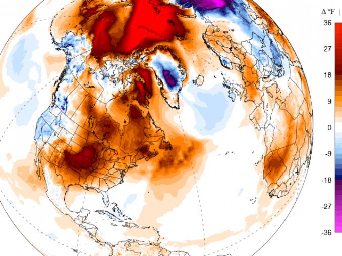 北極氣溫20度