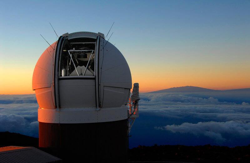 位於夏威夷的天文望遠鏡(圖:pan-STARR)