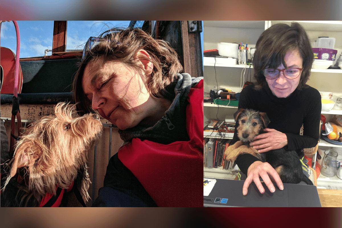 Fiona 和她的小狗Skomer