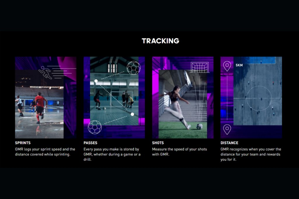 adidas GMR可以記錄下玩家踢球時的各種運運動訊息,連結到遊戲中
